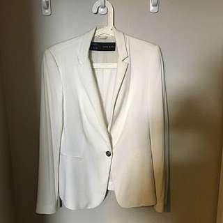 Zara Cream Loose Fit Blazer