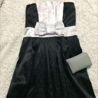 Casual Black Dress 👗 W/ Ribbon 🎀