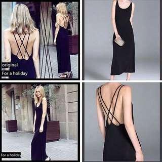 CrissCross Back Maxi Dress