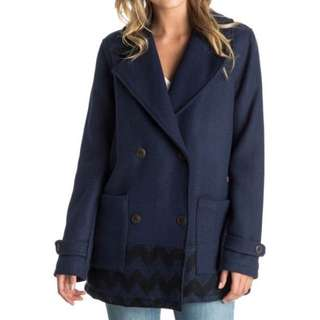 New With Tags Roxy Oversized Wool Coat Size Medium