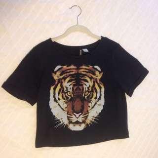 H&M Tiger Crop
