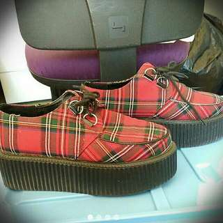 Rococo Tartan Plaid Creepers Made In Korea