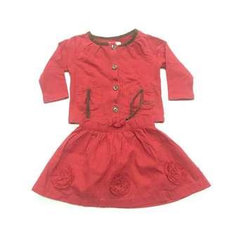 Preloved Osh Kosh Baby Sweater + Skirt