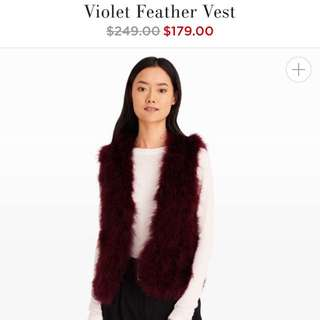 Black Feather Vest