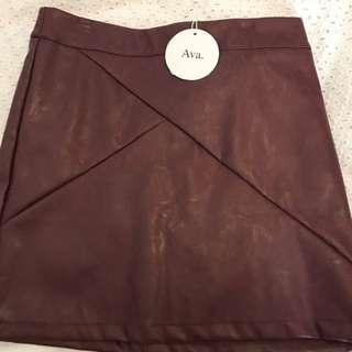 Ava Leather Skirt