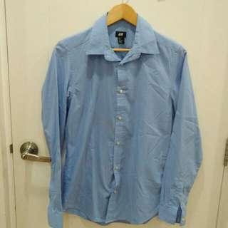 H&M Long Sleeve Polo (Blue)