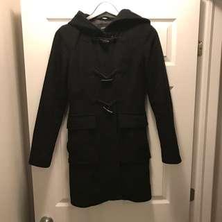 Jacob Toggle Hooded Wool Coat