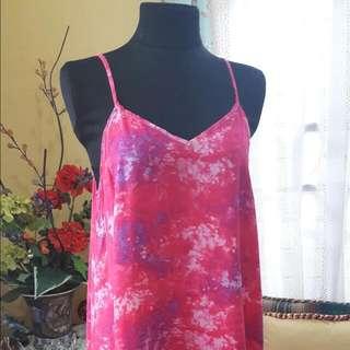 Cotton Summer Dress (Pink)