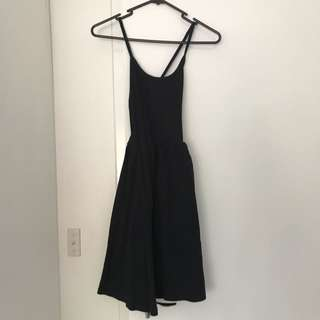 American Appearel Black Cotton Dress