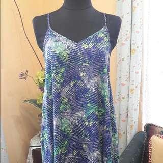 Cotton Summer Dress (Blue)