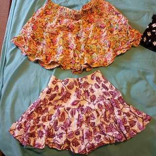 Flowy Floral Skirts