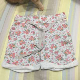 🚚 《只想清衣櫃》ZARA古典花卉棉質短褲
