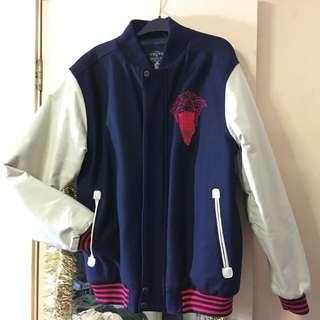 Crooks & Castles Varsity Leather Jacket L
