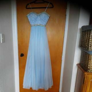 Baby Blue, Ball/evening/bridesmaid Dress