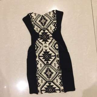 Berskha Mini Dress Monochrome