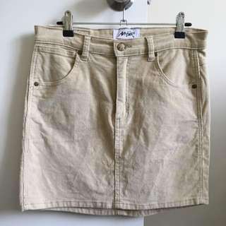 Ava+Ever Beige Mini Skirt, Size 12