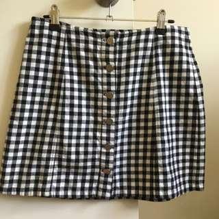 Pare Basics Checked Skirt, Size 12
