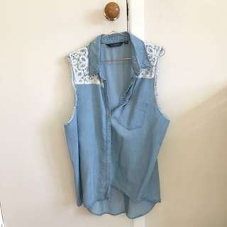 Glassons Size 14 Denim Like Vest