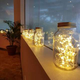 FOR RENT: Mason Jars with 5m Copper Wire Fairy Lights