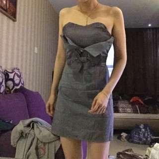 tube dress grey