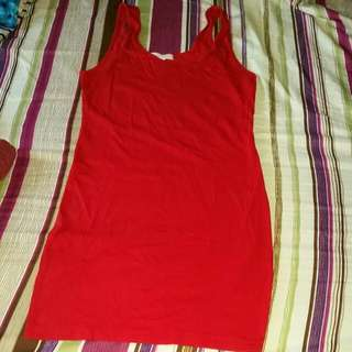 FOREVER21 red Fitted Dress