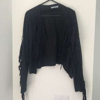 Fringe Jacket Black S/M