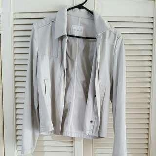 Pretty Off White Trenery Jacket