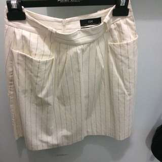 Cue Striped Flare Skirt With Pockets