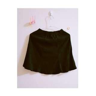【黑色半裙】簡約純黑半裙