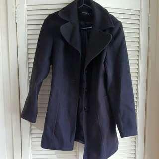 Medium Length Black Coat
