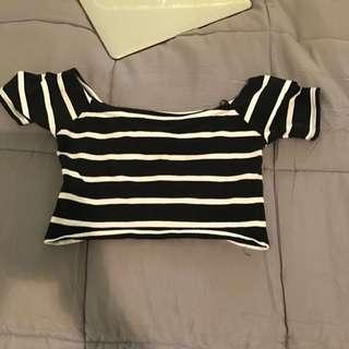 Crop Off The Shoulder Shirt