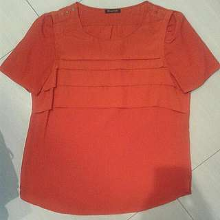 Massimo Dutti polyester top.