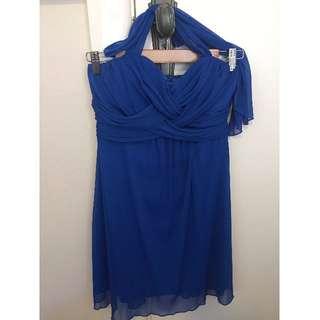 Party blue dress (size 10)