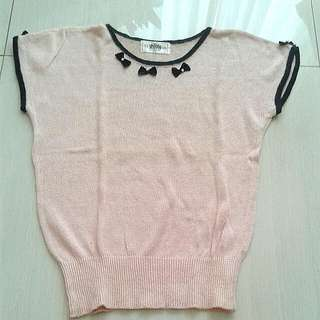 Pinky knitted top
