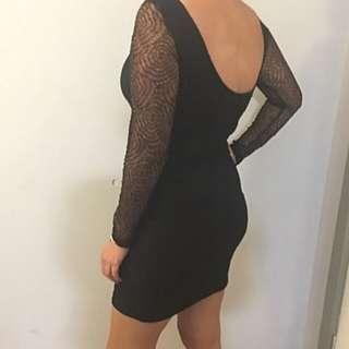 Kookai Black Lace Stretch Dress