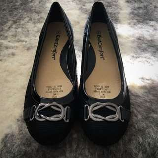 ExistComfort Ballet Flats Black Silver Chain Size 8