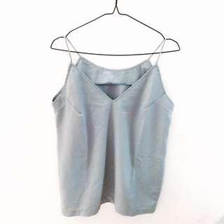 Blue Grey Top