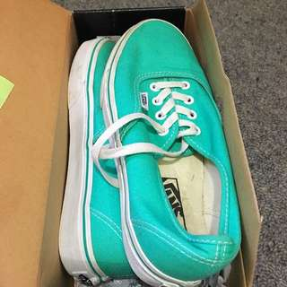 Turquoise Vans- Size 7.5 US Womens