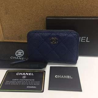 Chanel O-Coin Purse Blue (REPRICED)
