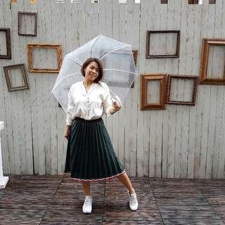 全新 韓國仿皮加運動風 Skirt