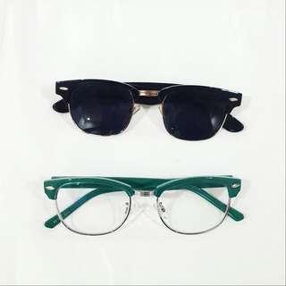 SET: Japanese Eyeglass Frame And Sunglasses