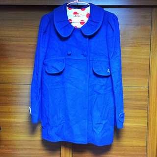 🚚 A La Sha 藍色大衣外套
