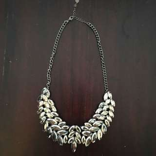Gunmetal Silver Pewter Necklace
