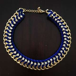 Royal Blue Gold Necklace