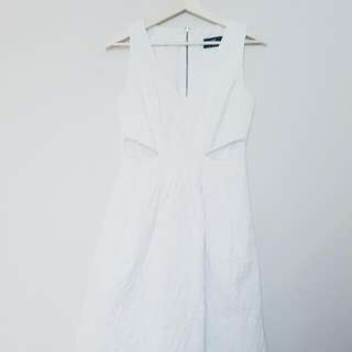 Chic White Cue Dress