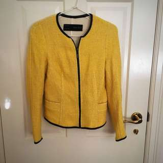 Zara Yellow/Black Jacket Size M