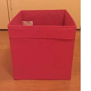 Pink DRÖNA IKEA Storage Boxes x3