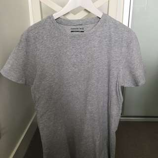 Industrie Grey Plain Basic Tshirt