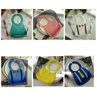 [PO] Silicon Fashion Bib (Waterproof) For Baby Boys And Girls