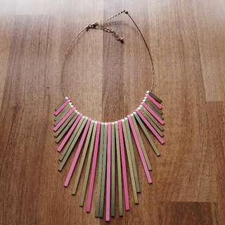 Kookai Pink and Gold Necklace
